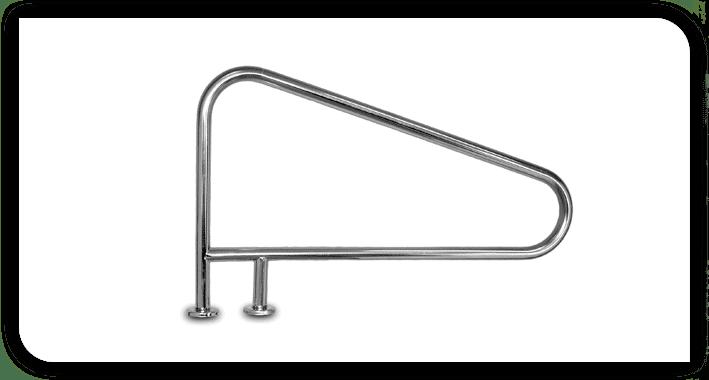 Interfab 3 Bend Braced Swimming Pool Hand Rail
