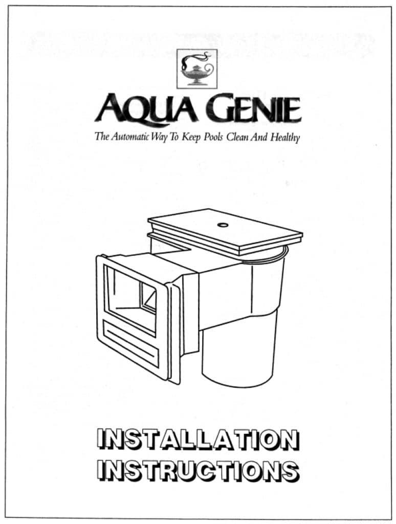 Aqua Genie Installation Manual