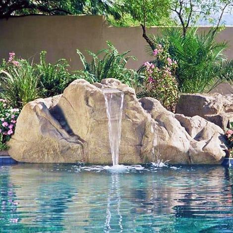 Aspen waterfall swimming pool waterfall swimming pool kits - Swimming pool water fountain kits ...