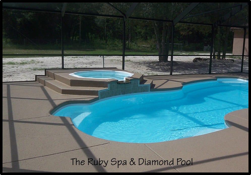 Fiberglass inground spas pool warehouse swim spas for Inground pool and spa