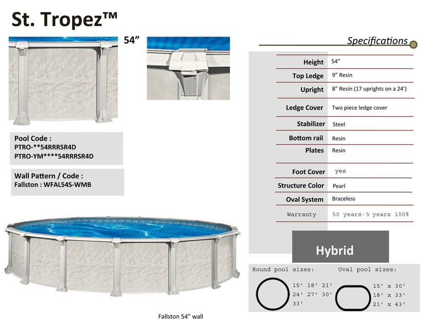 18 39 x 33 39 oval 54 deep above ground pool kit pool warehouse for Above ground pool kits
