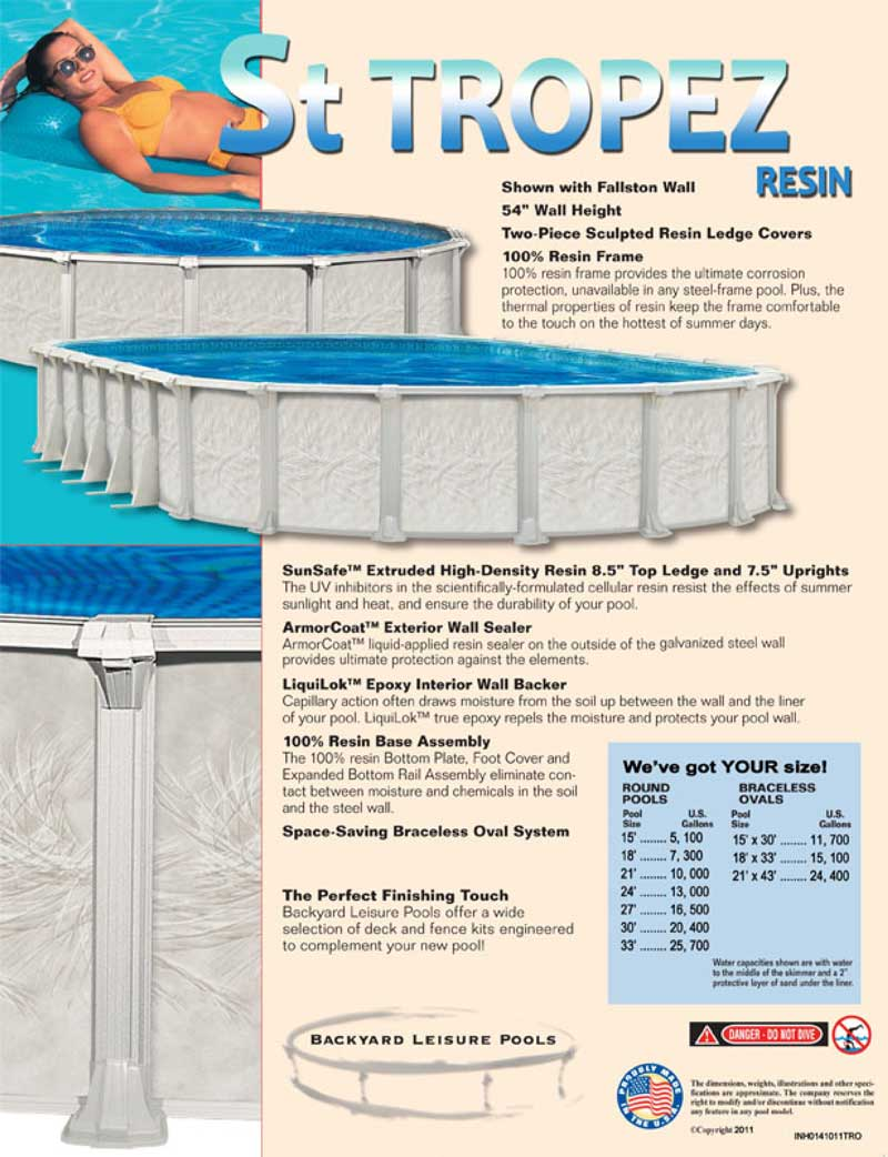 St tropez pool kits inground swimming pool kits pool for Above ground pool kits