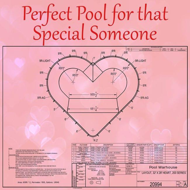 Valentines Day Swimming Pool Kit