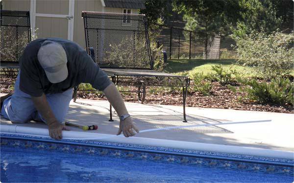 Swimming Pool Liner Bead Wedge Lock
