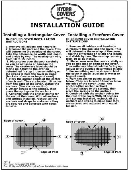 Pool Cover Installation Guide