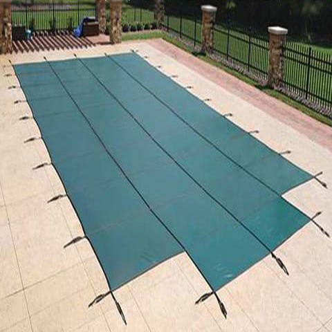 16 x 32 Excel Mesh Safety Pool Cover with Step