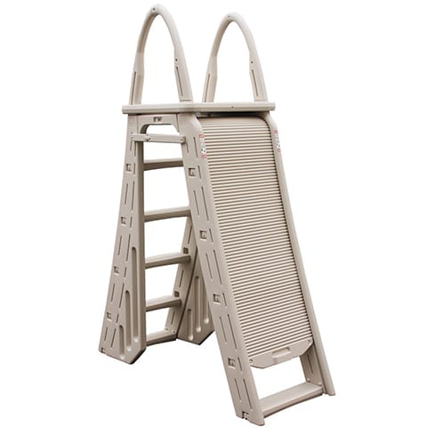 Above Ground Safety Pool Ladder With Roll-Guard