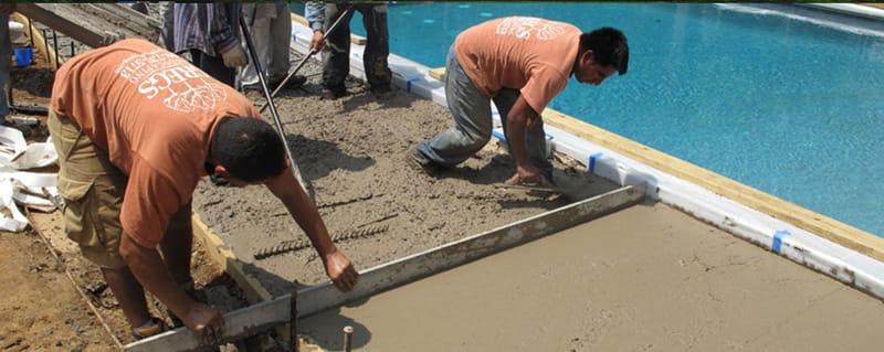 Concrete Swimming Pool Kit Deck Installation