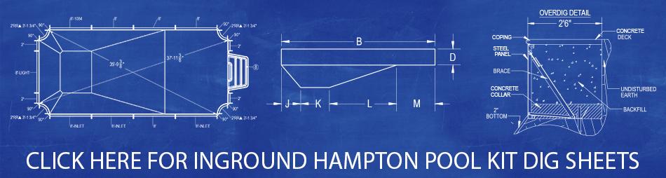 Hampton Pool Kit Dig Sheets