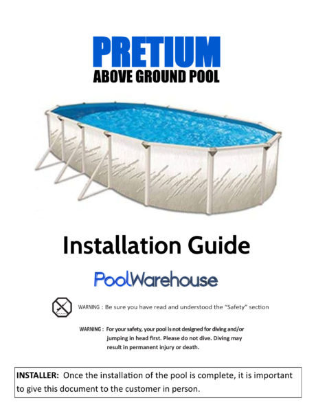 Pretium Oval Above Ground Pool Installation Guide