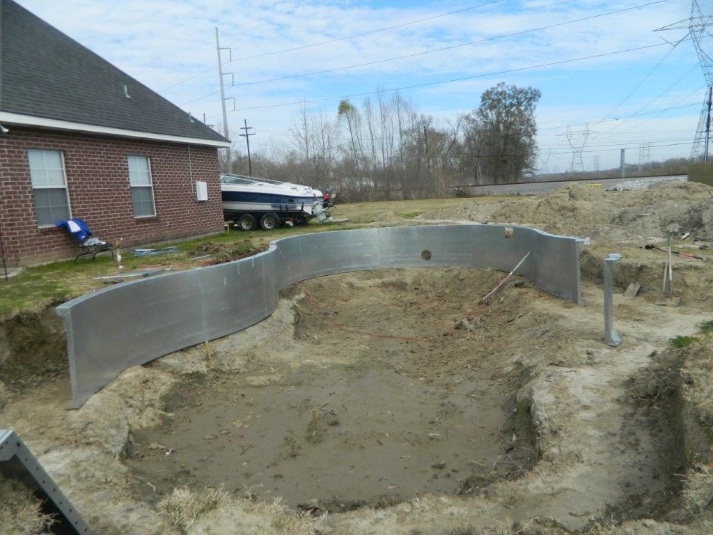 Steel In-ground Pool Kit Construction