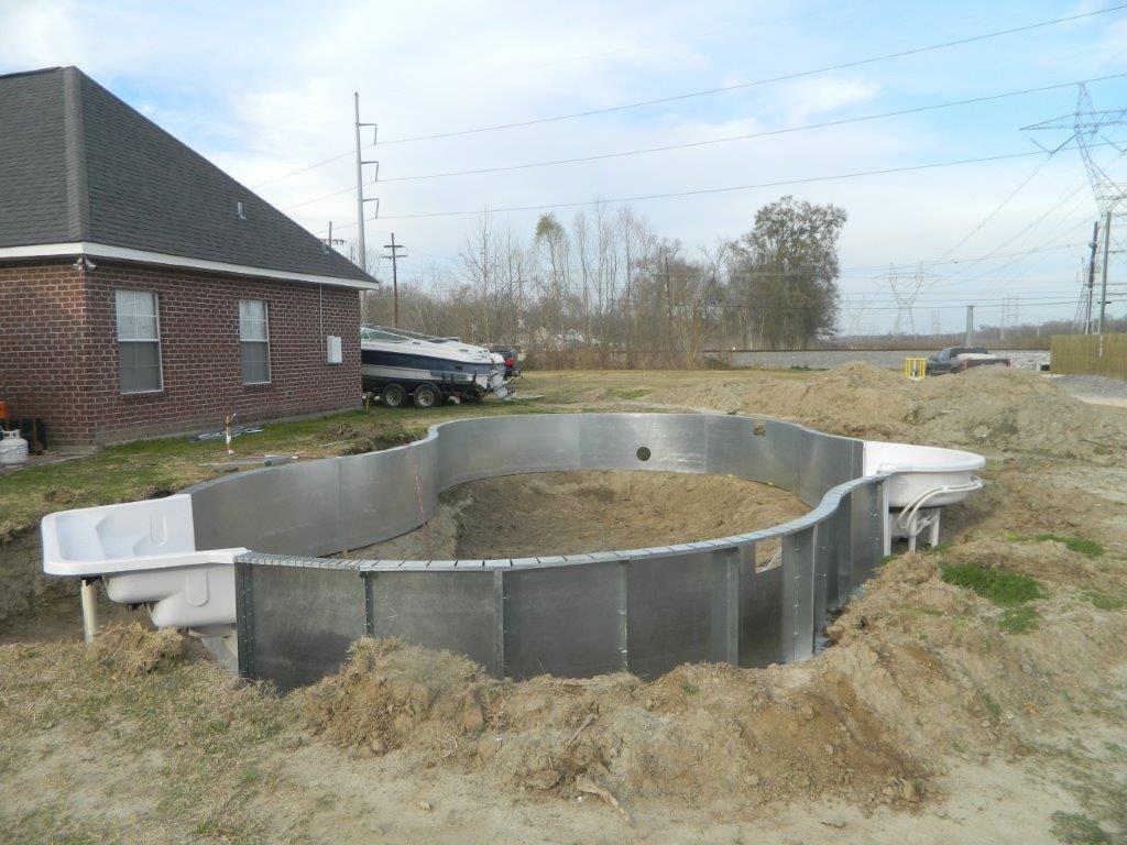 Steel Wall Inground Pool Kit Construction