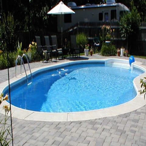 18 X 36 Kidney Sale Pool Kit 8 Feet Depth Pool Warehouse