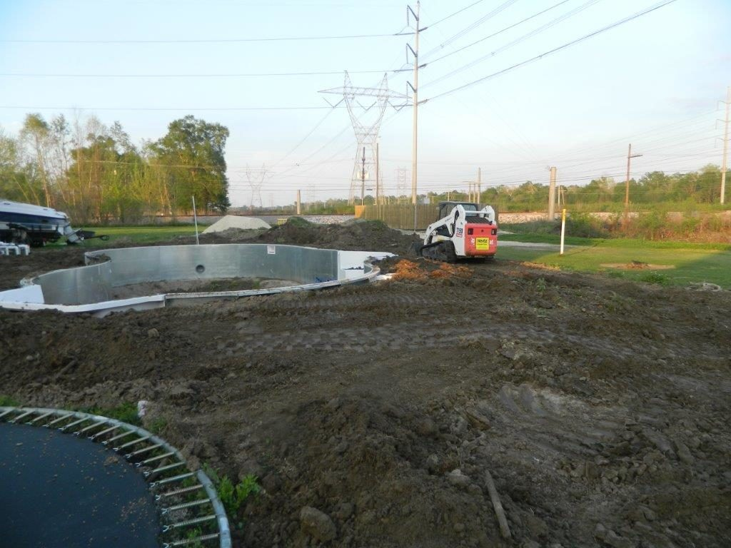 Steel Wall Pool Kit Construction