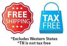 Free Shipping & Tax Free