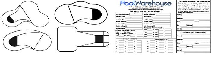 Free Form Vinyl Inground Swimming Pool Liners