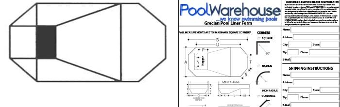 Grecian Vinyl Inground Pool Liners