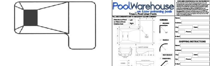 L Shaped Vinyl Inground Pool Liners