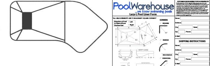 Lazy L Vinyl Inground Pool Liners