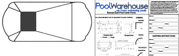 Roman End Vinyl Inground Pool Liners
