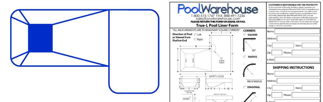 Pool Liner Measurements In Ground Swimming Pool Liners