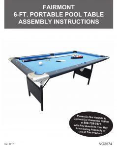 Fairmont Ft Portable Pool Table Pool Warehouse - Hathaway fairmont pool table