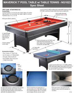 Maverick Ft Pool Table With Table Tennis Pool Warehouse - Maverick pool table