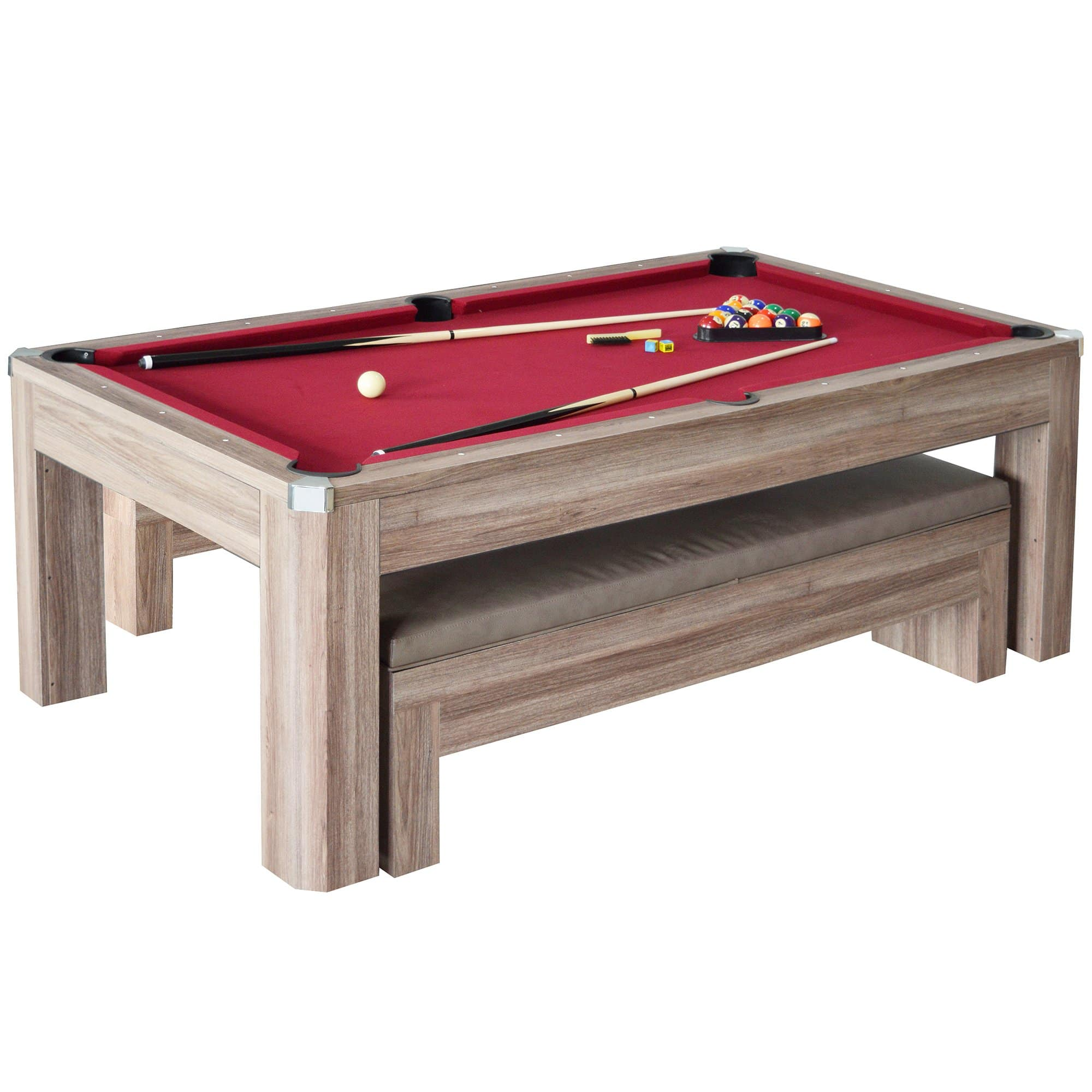 Newport Ft Pool Table Combo Set With Benches Pool Warehouse - Pool table seating