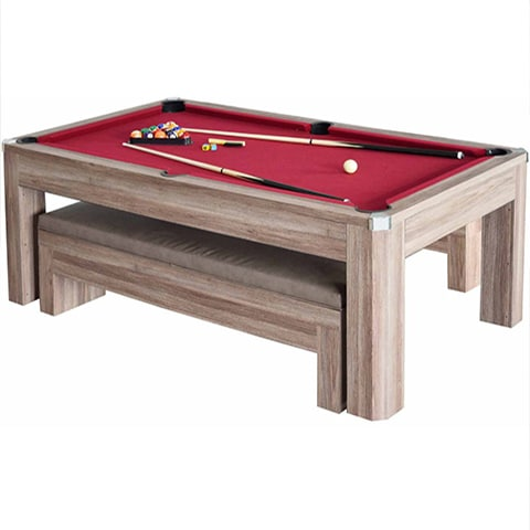 Newport 7ft pool table set with benches pool warehouse for 7 foot dining room table