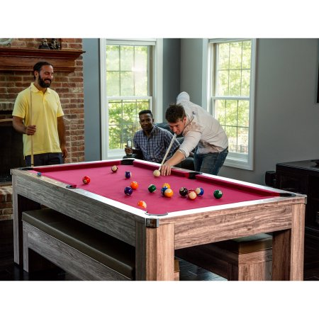 Newport Ft Pool Table Combo Set With Benches Pool Warehouse - 7 ft billiard table