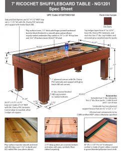 Ricochet 7 Ft Bounce Back Shuffleboard Table Pool Warehouse