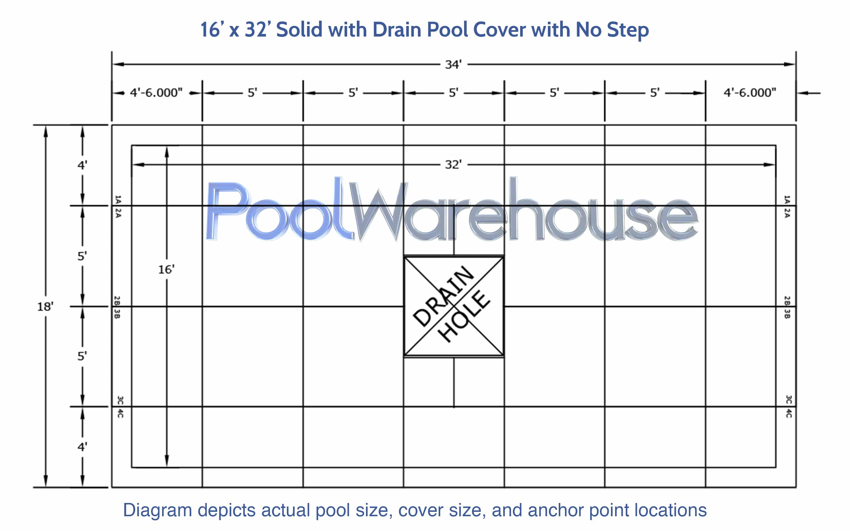 16 X 32 Rectangle Hydra Heavy Weight Winter Pool Covers
