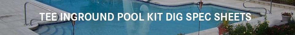 Tee Shaped Swimming Pool Kit Dig Sheets