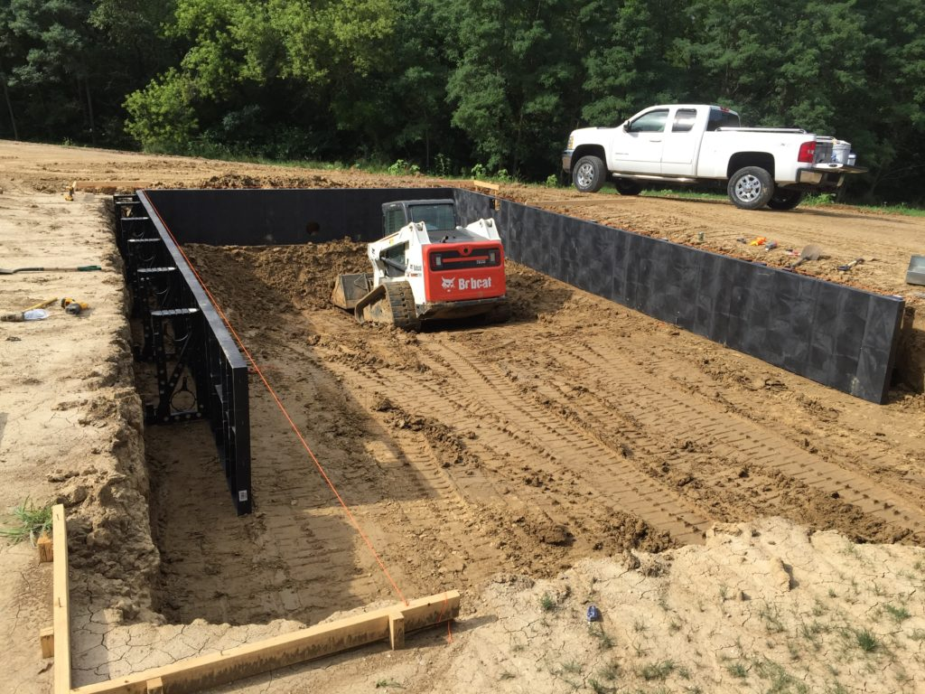 how to dig an inground swimming pool