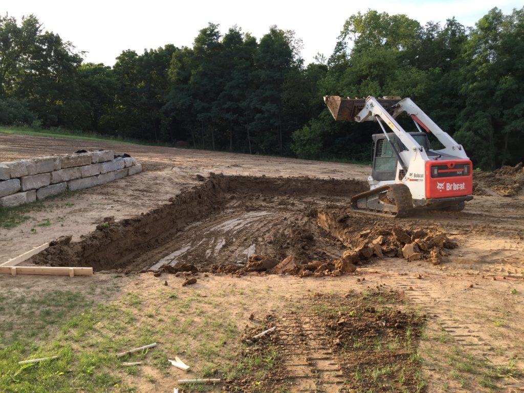dig a swimming pool