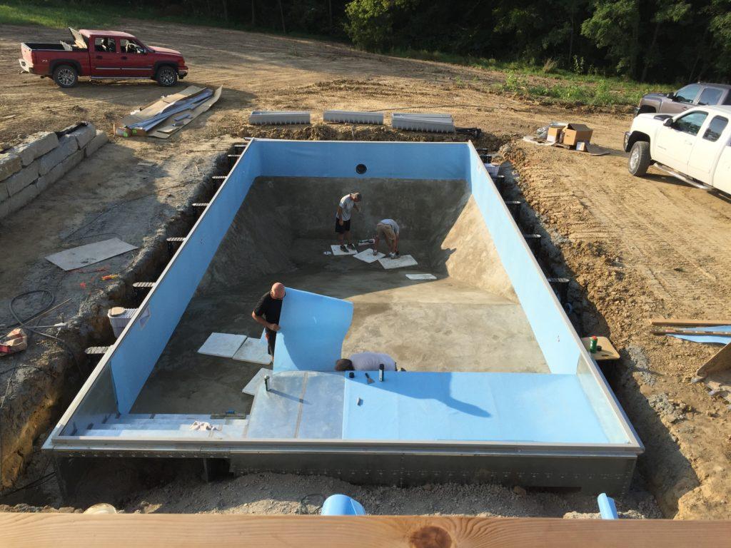 pool wall padding wall foam