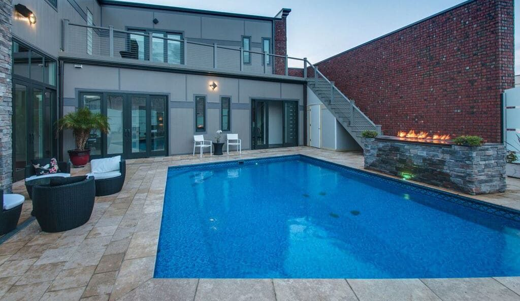 residential rooftop swimming pool