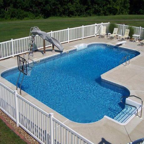 20 x 41 x 28 True L In-ground Swimming Pool Kit