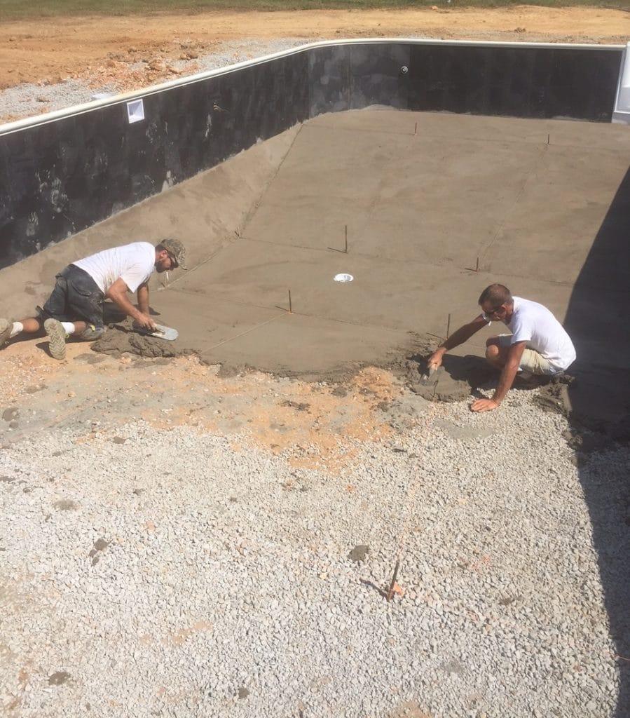 Finishing Pool Floor