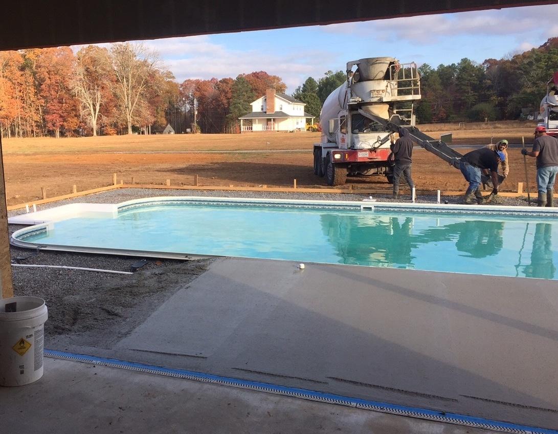 Hall diy swimming pool kit pool warehouse for Building an inground pool