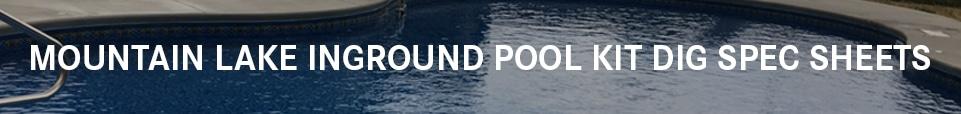 Inground Swimming Pool Kit Dig Sheets