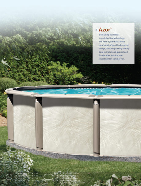 Azor Oval Above Ground Swimming Pool Brochure