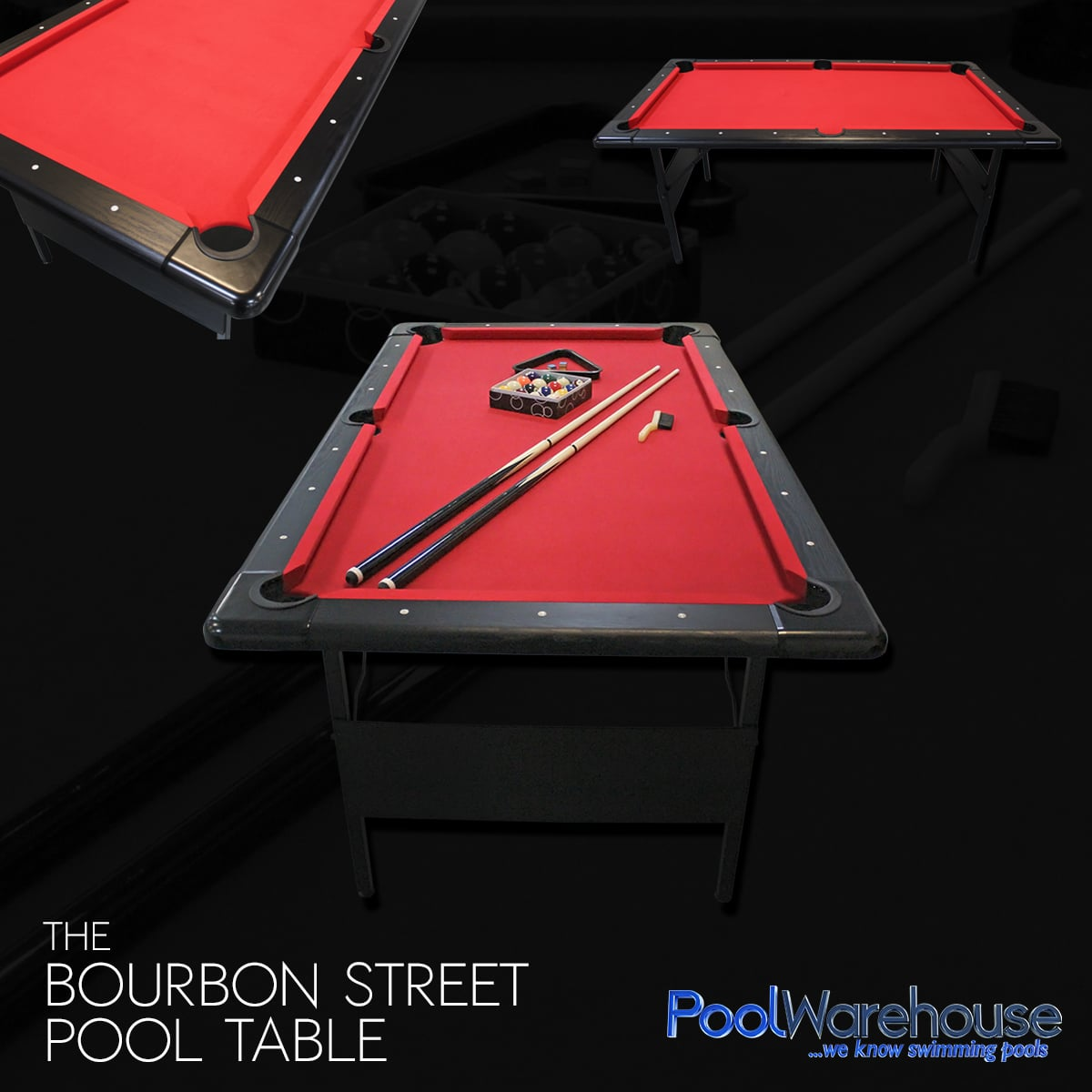 Bourbon Street Pool Table Fairmont Portable Pool Table - Pool table equipment near me