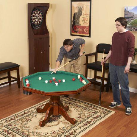 Kingston Dark Oak 3 In 1 Poker Table