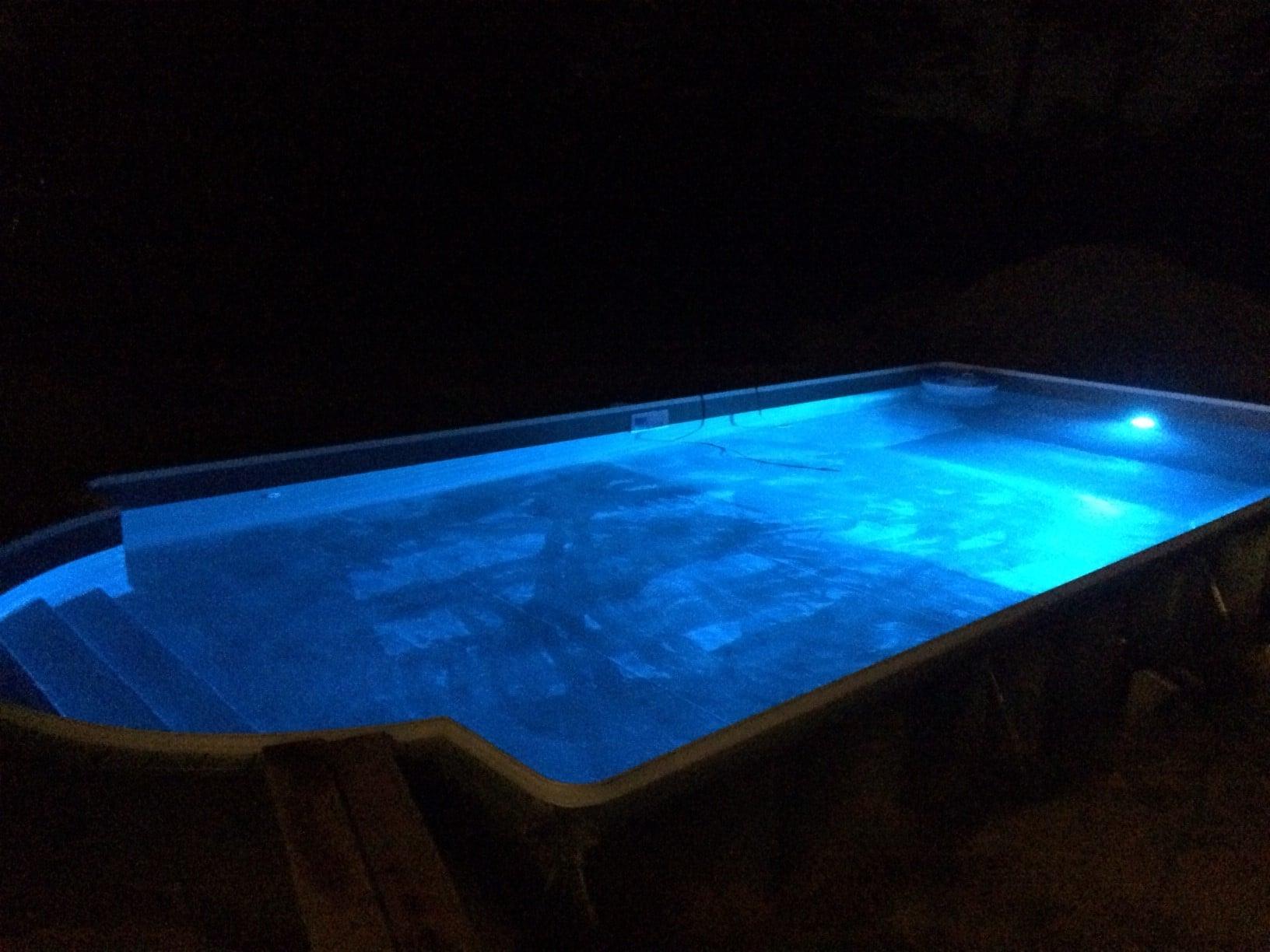 Swimming Pool at night view