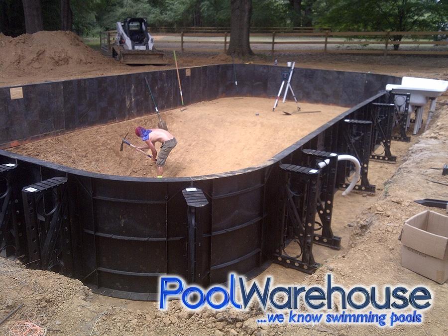 2017 Memphis Tennessee Inground Swimming Pool Kit Build