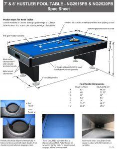 Hustler 7 Pool Table Free Shipping Pool Warehouse