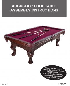 Augusta Ft NonSlate Pool Table In Mahogany Pool Warehouse - Pool table assembly near me
