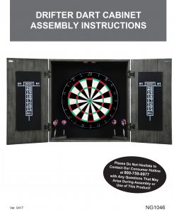 Drifter Solid Wood Dartboard U0026 Cabinet Set Manual ...