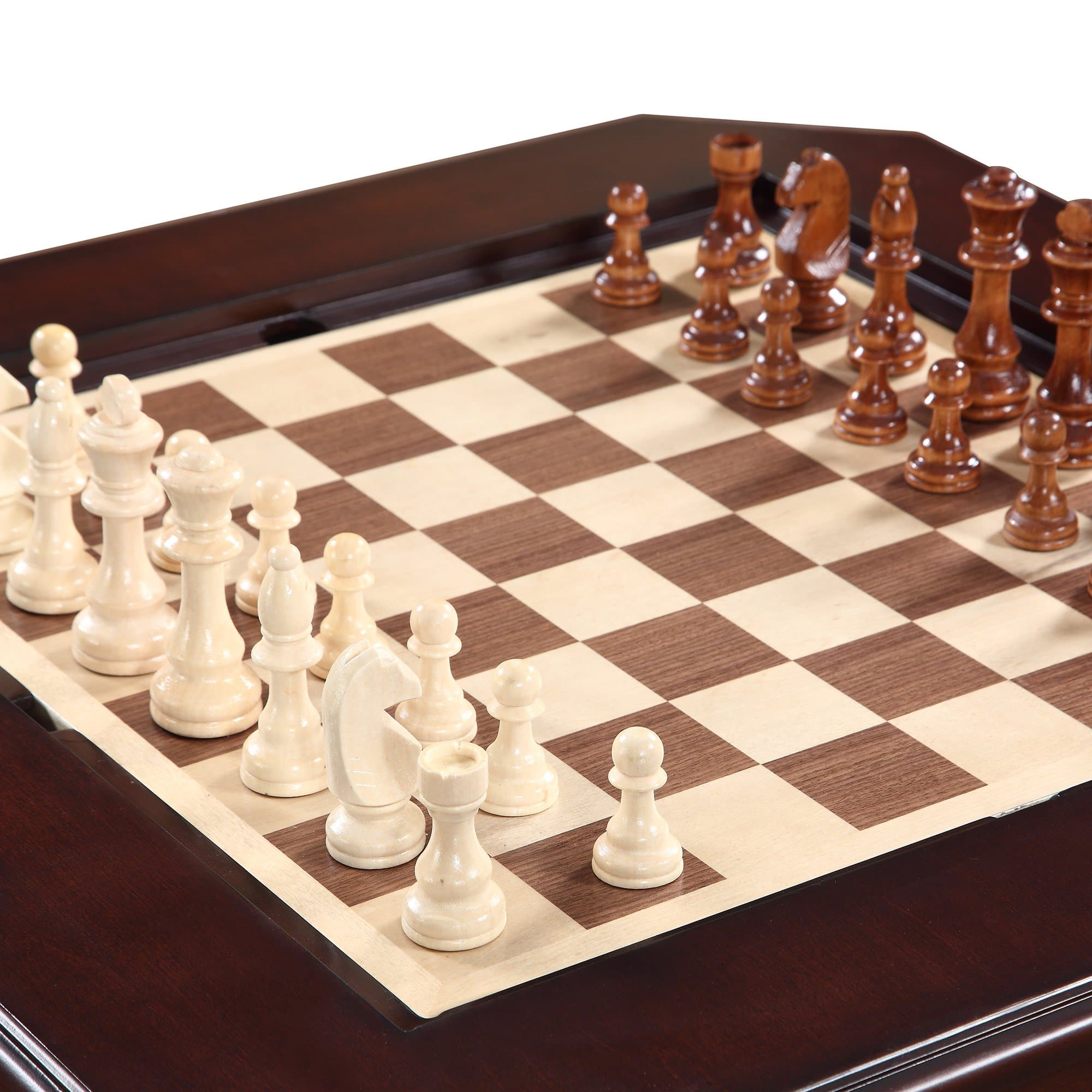 Fortress Chess Checkers Amp Backgammon Pedestal Game Table